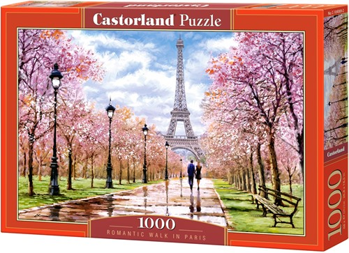 Romantic Walk in Paris Puzzel (1000 stukjes)