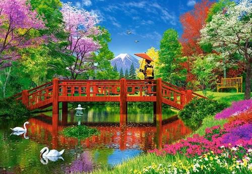 Fuji Lake Puzzel (1500 stukjes)-2