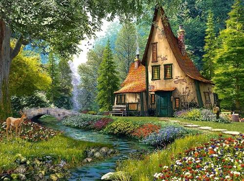Toadstool Cottage Puzzel (2000 stukjes)-2