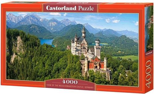 View of the Neuschwanstein Castle Puzzel (4000 stukjes)-1