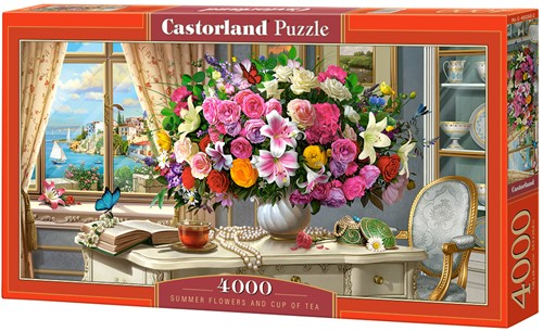 Summer Flowers and Cup of Tea Puzzel (4000 stukjes)