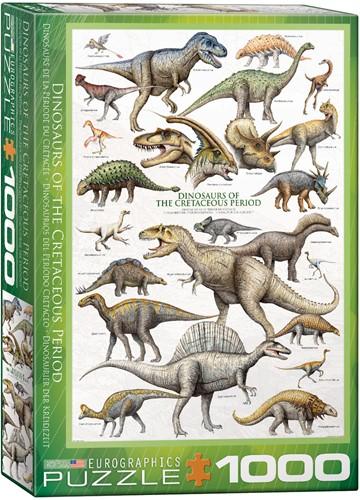 Dinosaurs of the Cretaceous Puzzel (1000 stukjes)