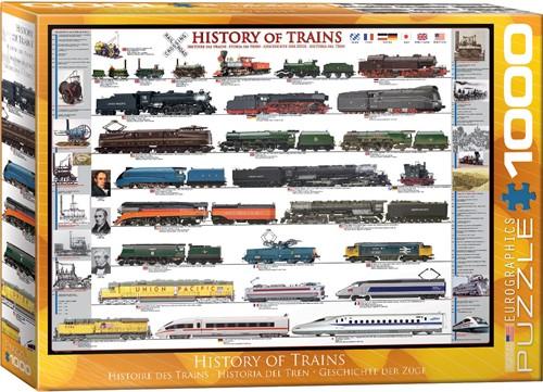 History of Trains Puzzel (1000 stukjes)