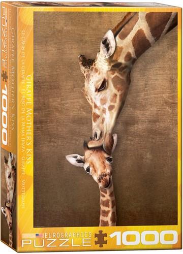 Giraffe Mother's Kiss Puzzel (1000 stukjes)
