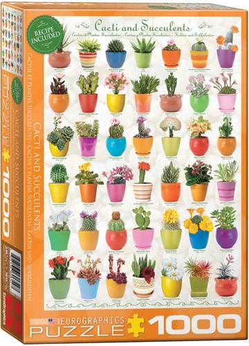 Cacti & Succulents Puzzel (1000 stukjes)