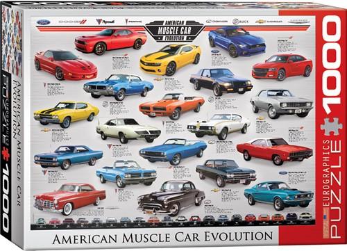 American Muscle Car Evolution Puzzel (1000 stukjes)