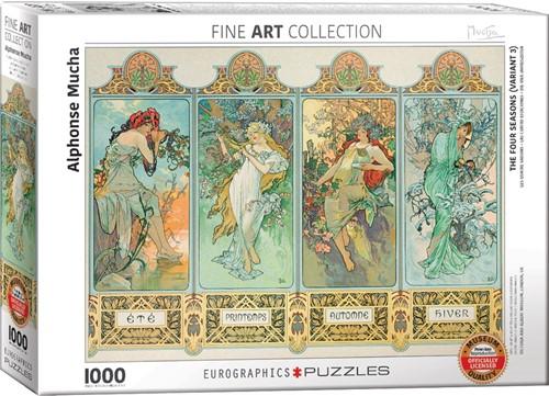 Four Seasons - Alphonse Mucha Puzzel (1000 stukjes)