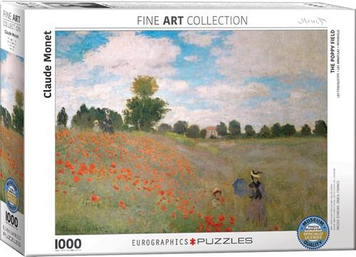 Claude Monet - The Poppy Field Puzzel (1000 stukjes)