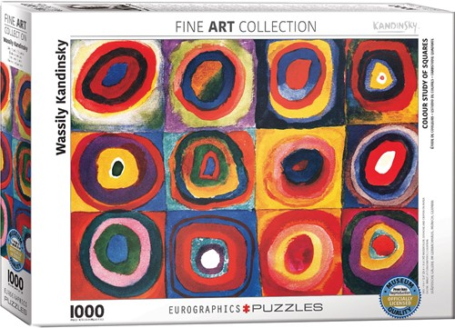 Colour Study of Squares - Wassily Kandinsky Puzzel (1000 stukjes)