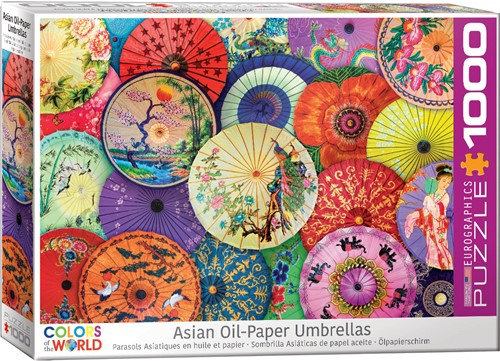 Asian Oil Paper Umbrellas Puzzel (1000 stukjes)