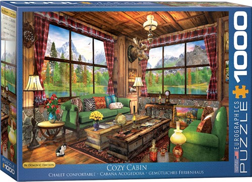 Cozy Cabin - Dominic Davison Puzzel (1000 stukjes)