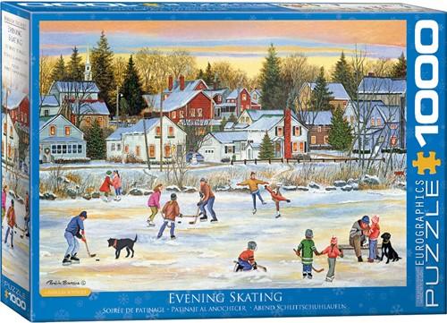 Evening Skating - Patricia Bourque Puzzel (1000 stukjes)