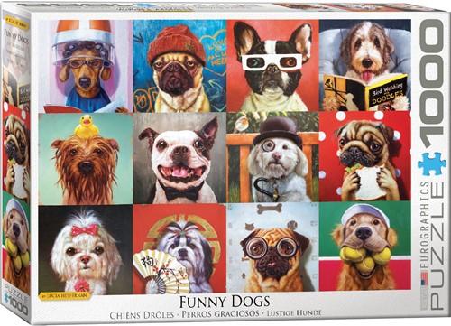 Funny Dogs Puzzel (1000 stukjes)