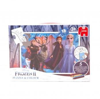 Frozen 2 – Kleurplaat Puzzel (18 stukjes)