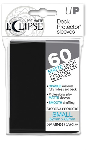 Sleeves Eclipse Pro Matte - Small Zwart (62x89 mm)