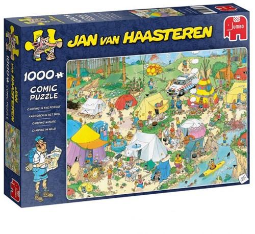 Jan van Haasteren - Kamperen in het Bos Puzzel (1000 stukjes)