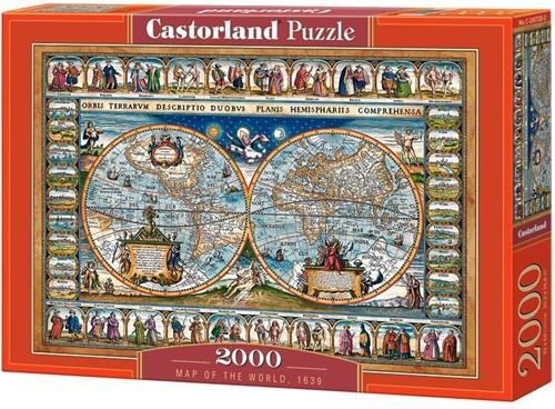 Map of the world, 1639 Puzzel (2000 stukjes)