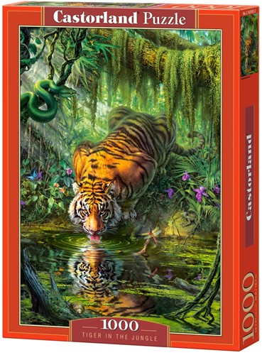 Tiger in the Jungle Puzzel (1000 stukjes)
