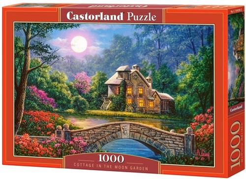 Cottage in the Moon Garden Puzzel (1000 stukjes)
