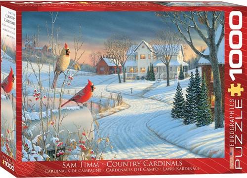 Country Cardinals - Sam Timm Puzzel (1000 stukjes)