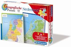 Geographische Puzzel Nederland (104 stukjes)