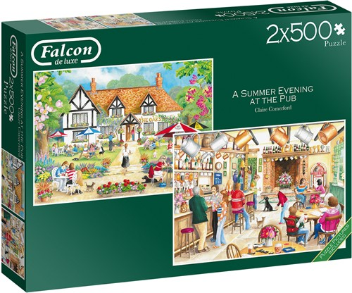 Falcon - A Summer Evening at the Pub Puzzel (2x500 stukjes)