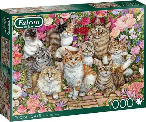 Falcon - Floral Cats Puzzel (1000 stukjes)