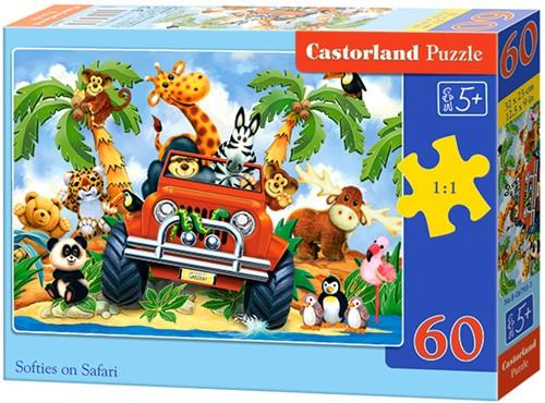Softies on Safari Puzzel (60 stukjes)