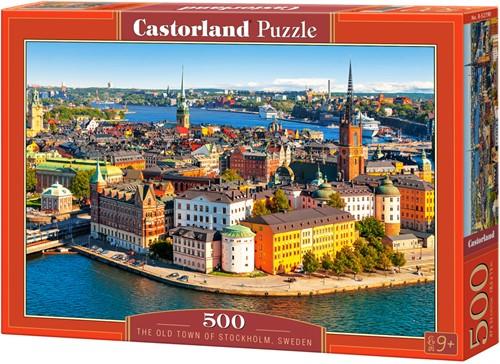 The Old Town of Stockholm, Sweden Puzzel (500 stukjes)