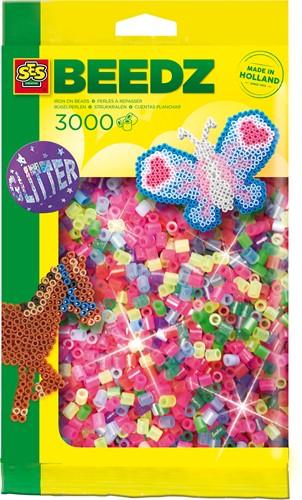 SES - Strijkkralen 3000 stuks Glitter