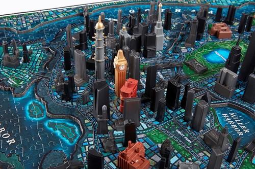 4D Cityscape - Batman Gotham City 3D Puzzel (1550 stukjes)-2