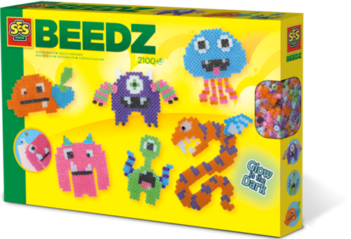 SES - Beedz Strijkkralen - Glow in the Dark Monsters