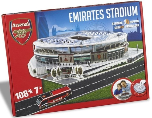 Arsenal - Emirates Stadium 3D Puzzel (108 stukjes)