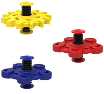 Flip Spinner Rubber - Geel