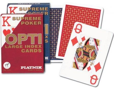 Piatnik Poker Speelkaarten - Opti Grote Index