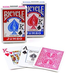 Bicycle Pokerkaarten - Rider Back Jumbo