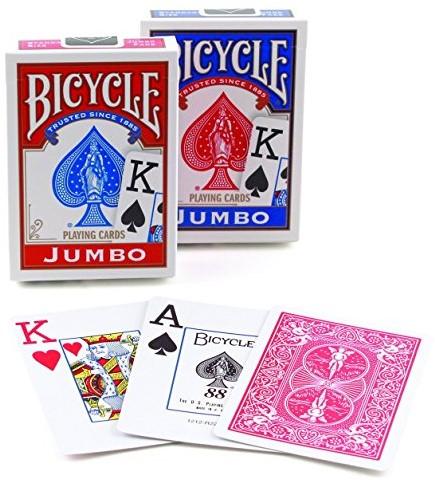 Bicycle Pokerkaarten - Rider Back Jumbo