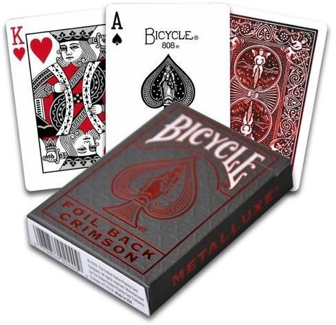 Bicycle Pokerkaarten - Metallux Red