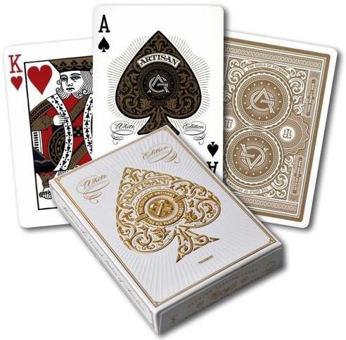 Bicycle Pokerkaarten - Artisan White Premium