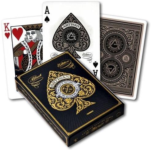 Bicycle Pokerkaarten - Artisan Black Premium