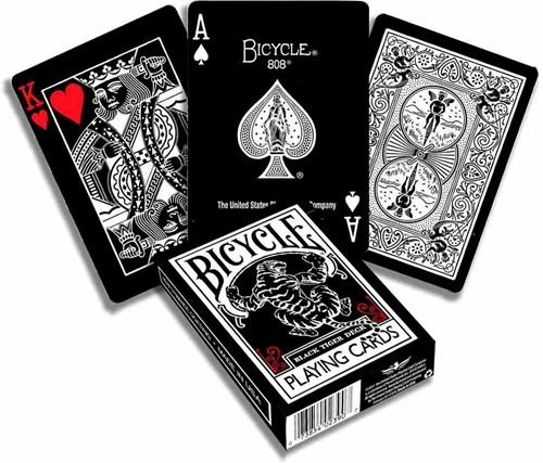 Bicycle Pokerkaarten - Black Tiger Red