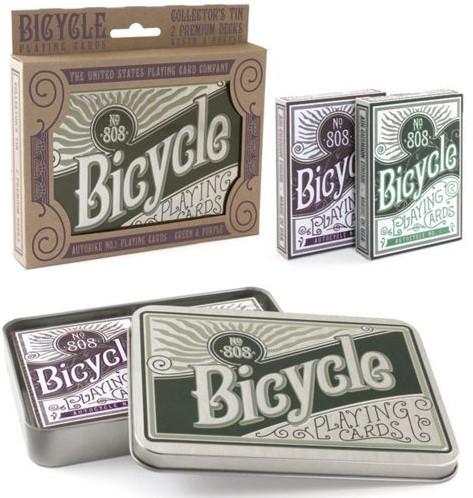 Bicycle Pokerkaarten Retro Dubbel in Blik