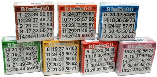 Bingokaarten (Pak 500 stuks)