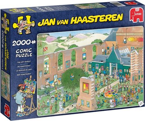 Jan van Haasteren - De Kunstmarkt Puzzel (2000 stukjes)