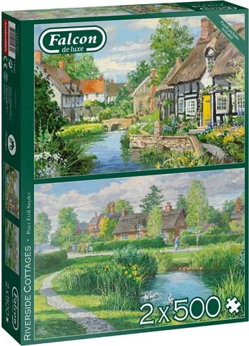 Riverside Cottages Puzzel (2 x 500 stukjes)
