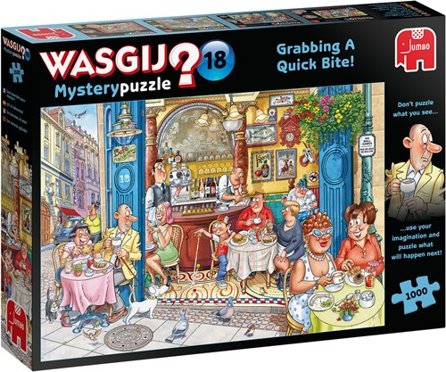 Wasgij Mystery 18 - Fast Food Waanzin Puzzel (1000 stukjes)