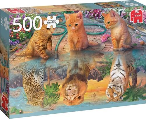 De Droom van een Kitten Puzzel (500 stukjes)