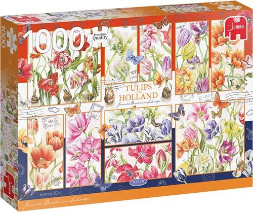 Janneke Brinkman - Nederlandse tulpen Puzzel (1000 stukjes)