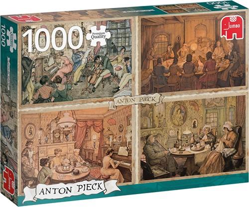Anton Pieck - Vermaak in de Woonkamer Puzzel (1000 stukjes)