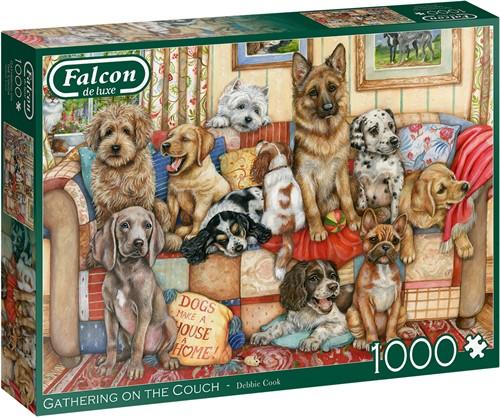 Falcon - Gathering on the Couch Puzzel (1000 stukjes)